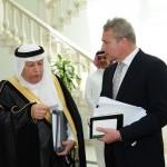 HE Mr Hassan Nazer, Saudi Ambassador to Australia, with Mr Graeme Wedderburn, Jeddah, Saudi Arabia.